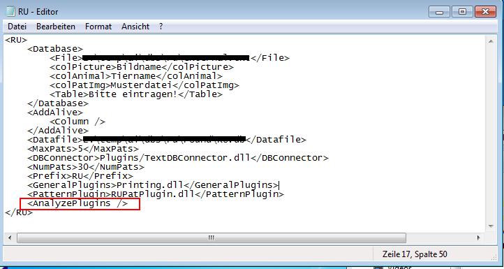 AmphIdent - Setting up an Analysis-Plugin